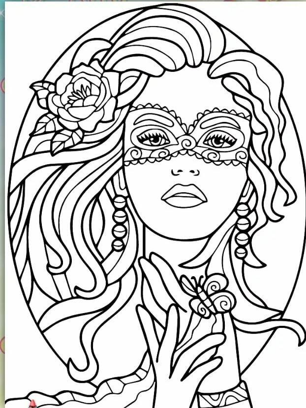 Картинки женщины для раскраски