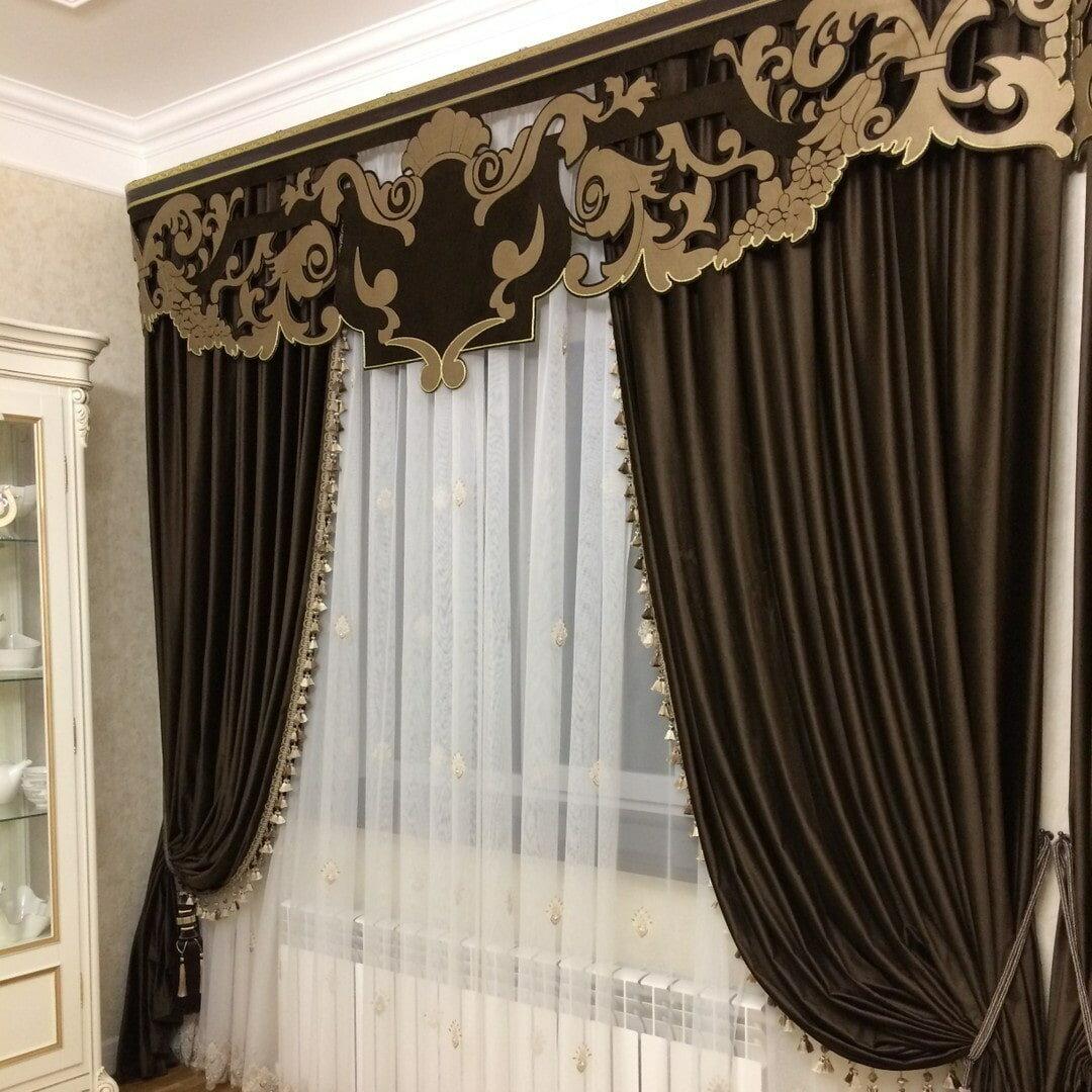 картинки занавески шторы для зала фото