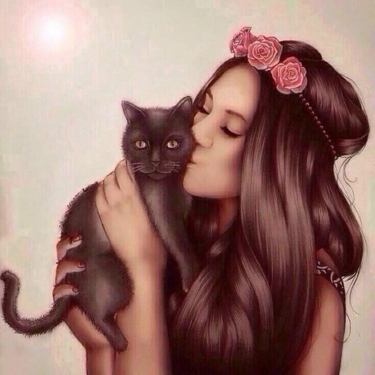Картинки котов, прикольные картинки девочек на аватарку