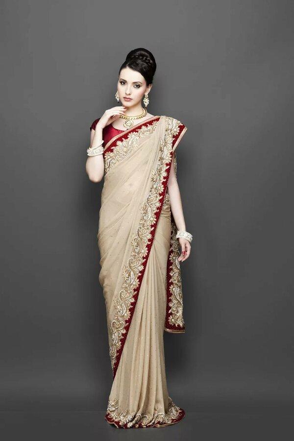 Индийские платья сари фото