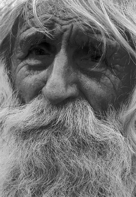 картинка старик с бородой очистки