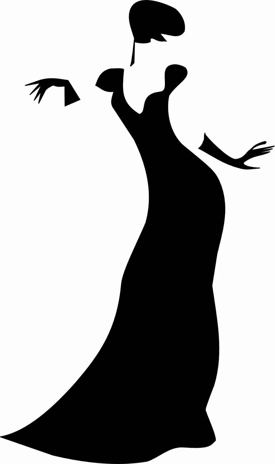 Анимационные, картинки с силуэтом женщины