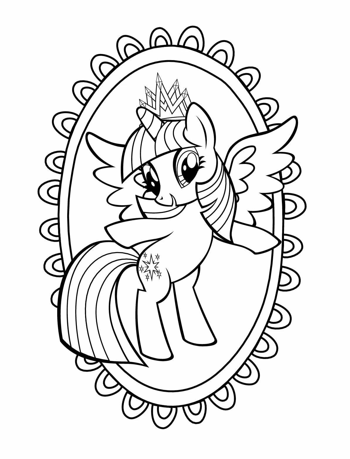 картинки для раскраски мой маленький пони россии