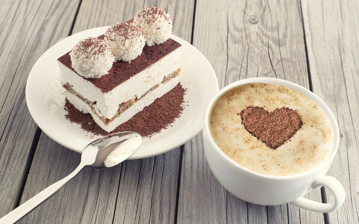 Картинки кружка кофе и десерт
