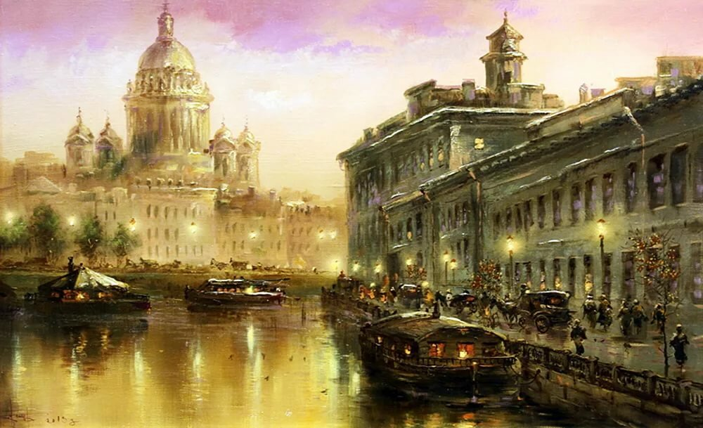 Петербург в картинках художников