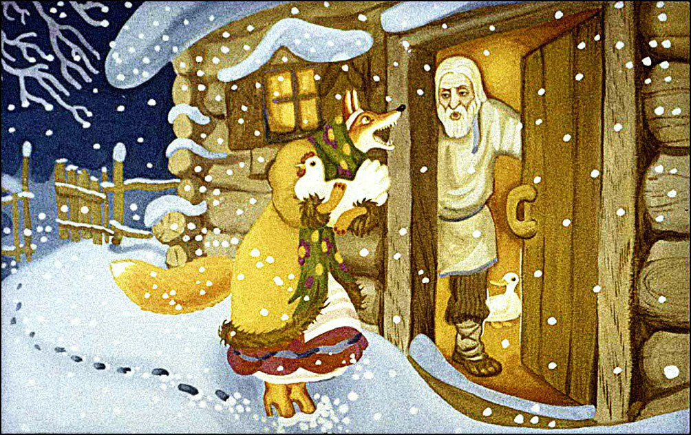 Иллюстрации к сказке лисичка со скалочкой