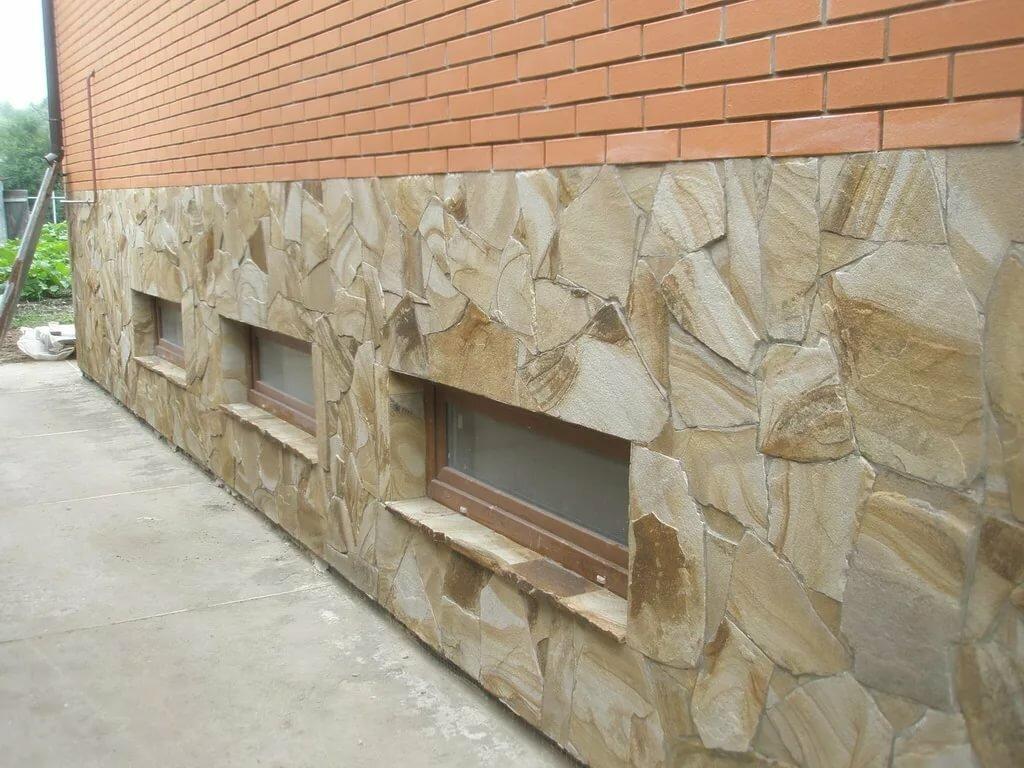 декоративный камень на фундамент