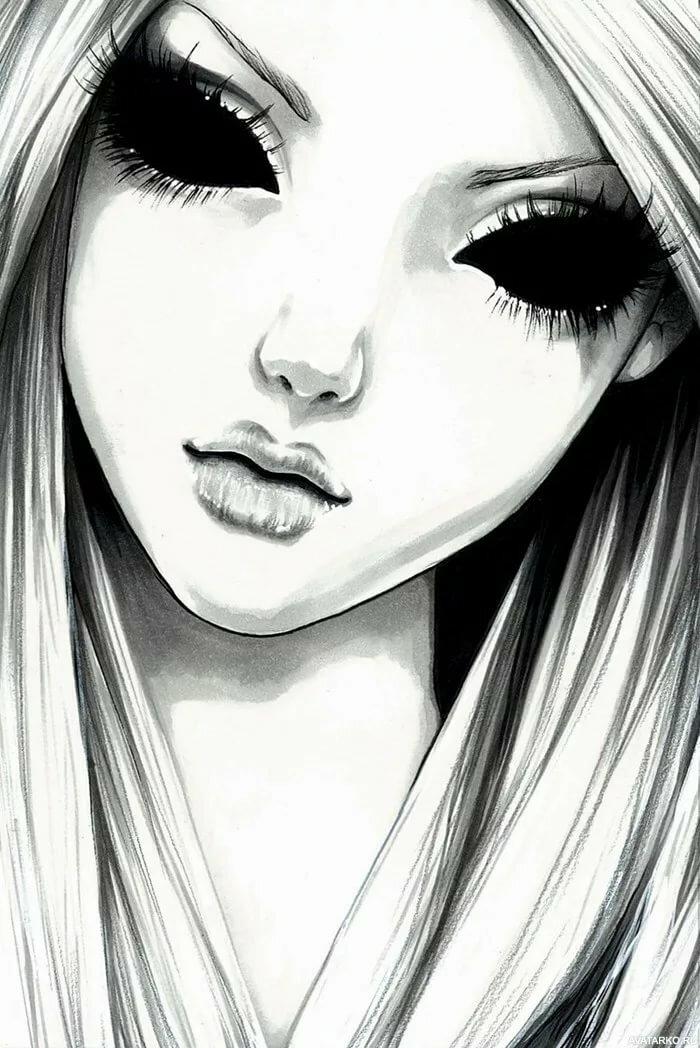 Крутые девочки картинки на аву нарисованные
