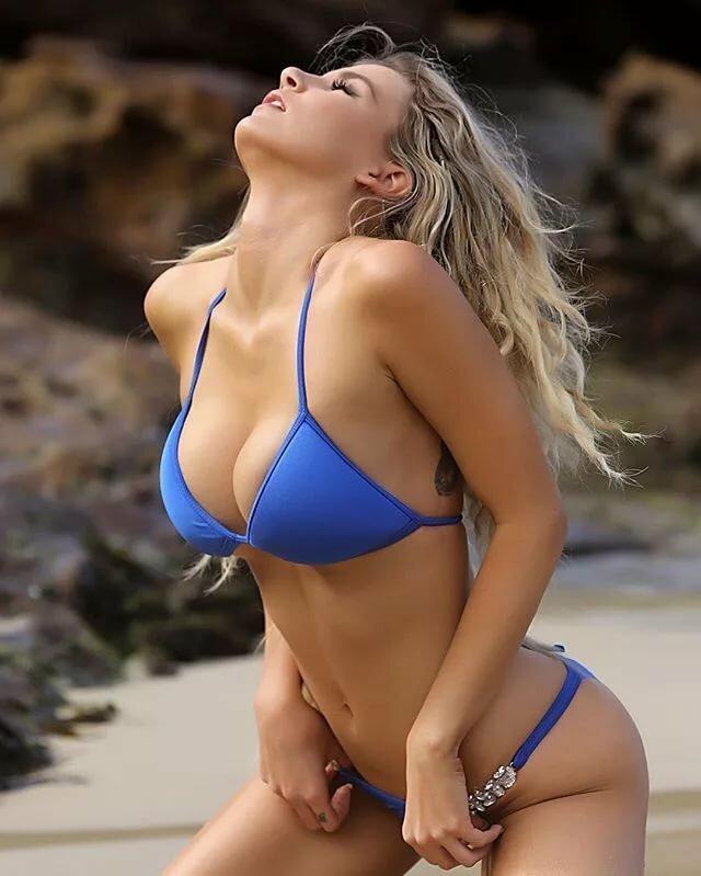 Tease in bikini