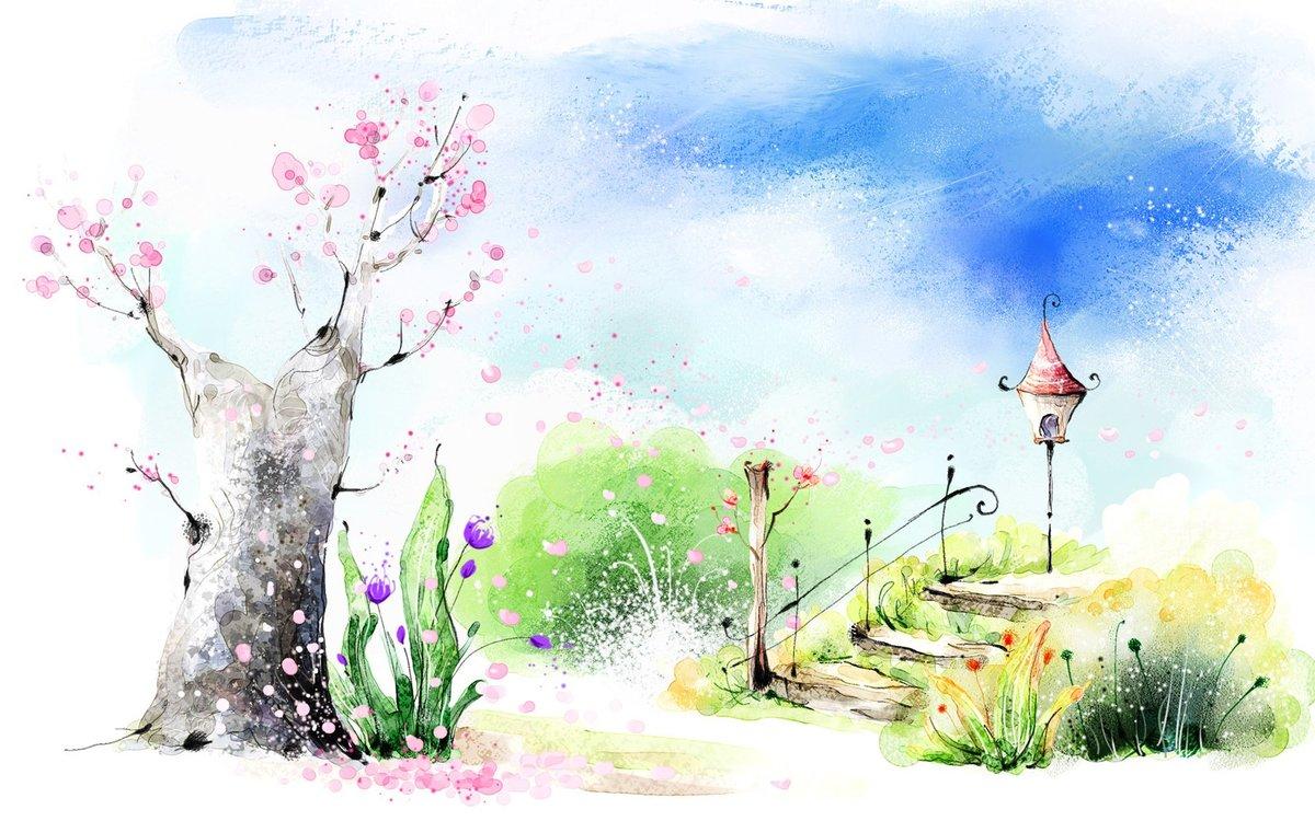 Картинка с весной природа нарисовать, формы сердца