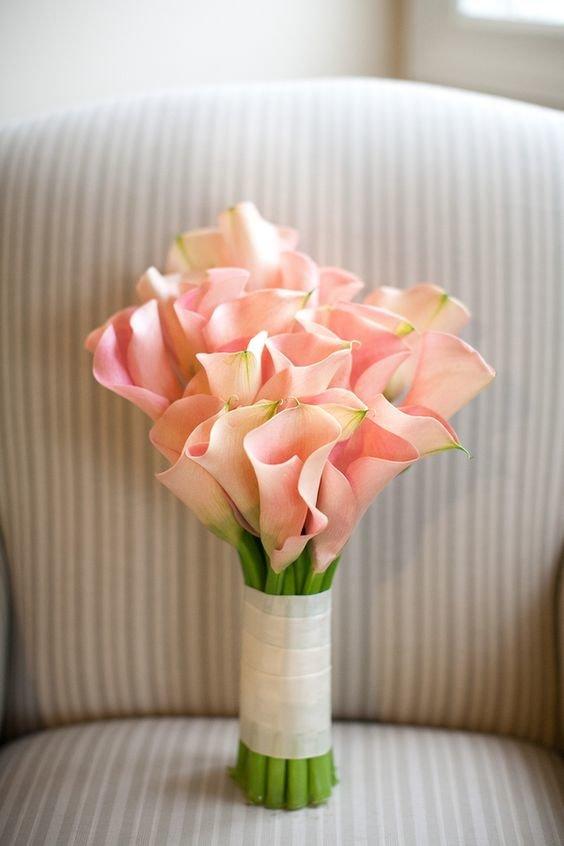 Букет из калл невесте, букетов живых цветов