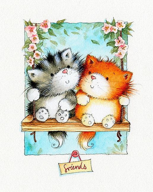 Картинки аву, открытка для друга рисунок для детей