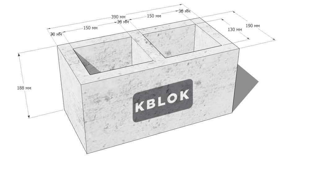 размеры шлакоблоков для строительства