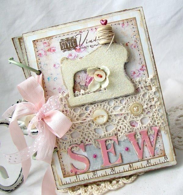 Оригами открытка, открытка с днем рождения для швеи