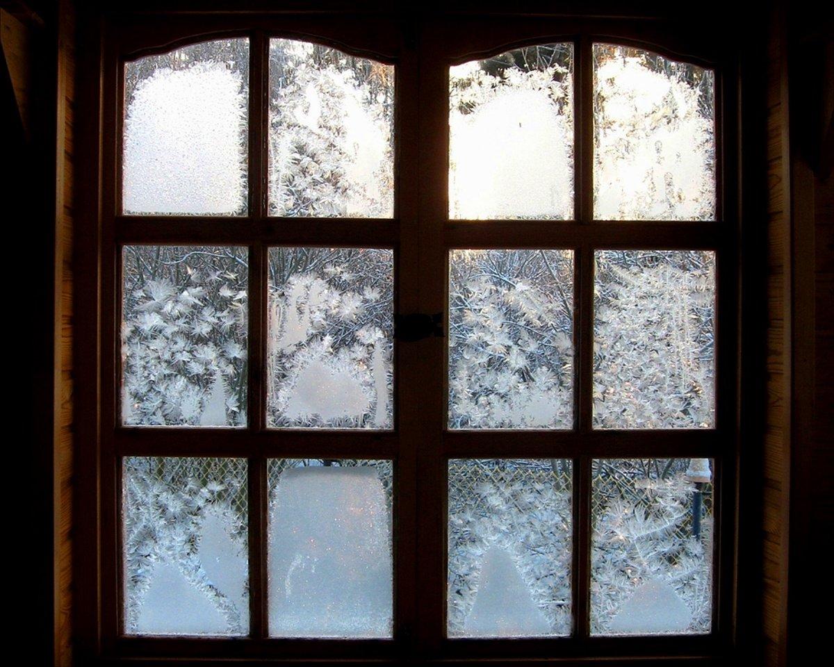 Зима картинки окно