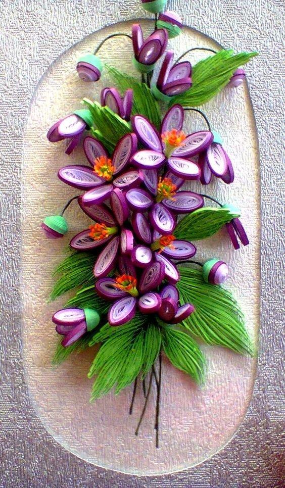 Марту для, картинки с цветами из квиллинга