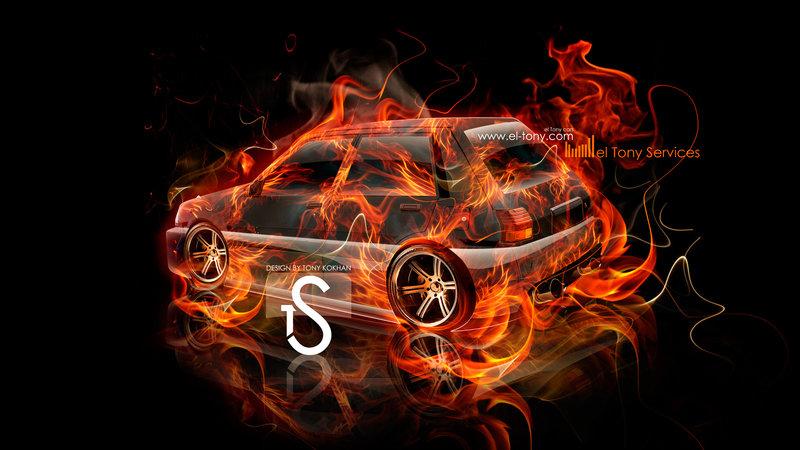Toyota Starlet Fire Car 2013 El Tony Cars