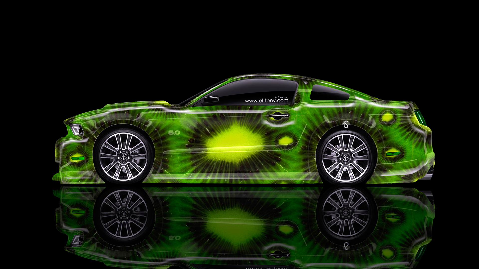 Ford Mustang Gt Muscle Side Kiwi Aerography Car 2014 Photoshop Hd