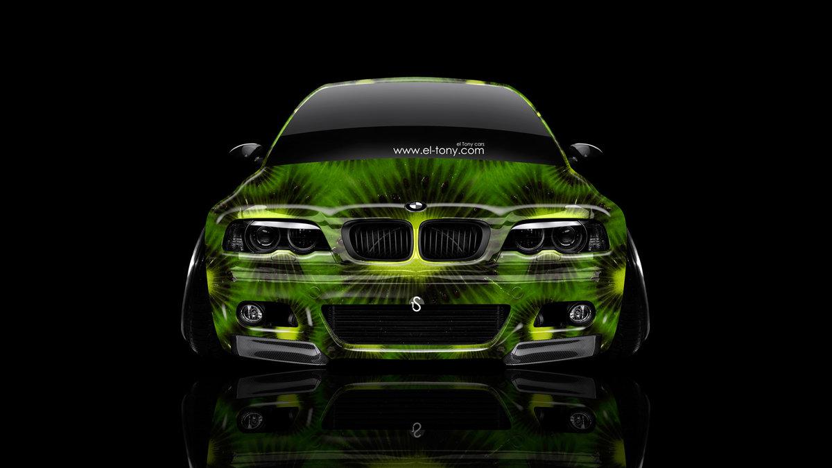 BMW M3 E46 Front Kiwi Aerography Car 2014