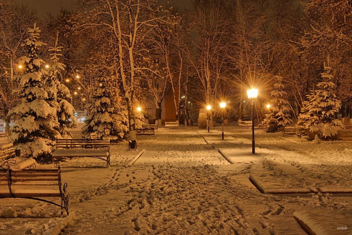 такую снежная ночь в городе фото задача случае применения
