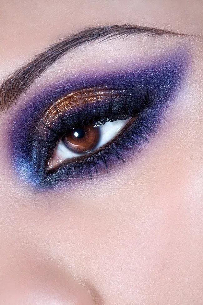 Фиолетовые тени для зеленых глаз