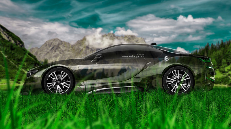 BMW I8 Side Crystal Nature Car 2014 HD