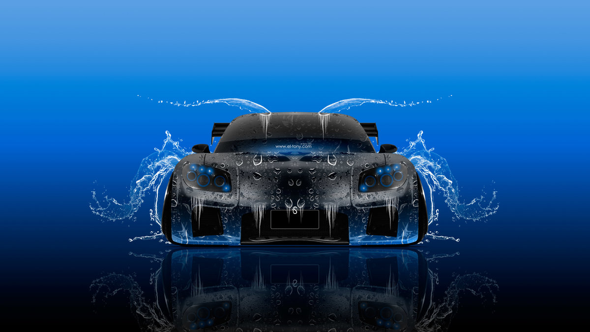 Mazda RX7 VeilSide Tuning JDM Front Water Car