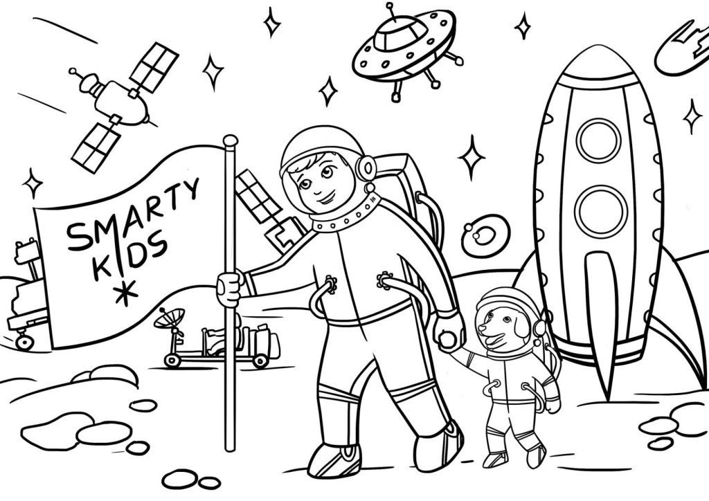рисунок на тему поздравление космонавту карандашом вы