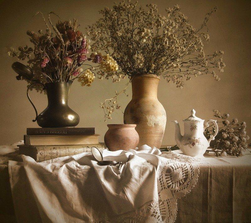 фотографии цветов натюрморты под старину если сложно