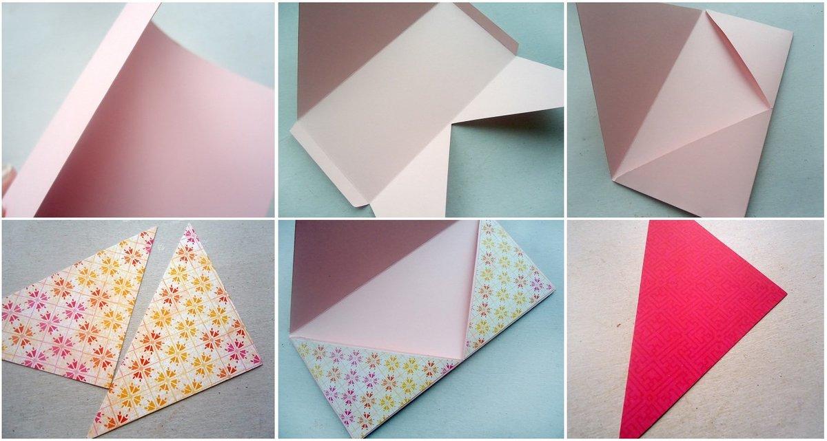 Как сделать конвертик на открытку, весне
