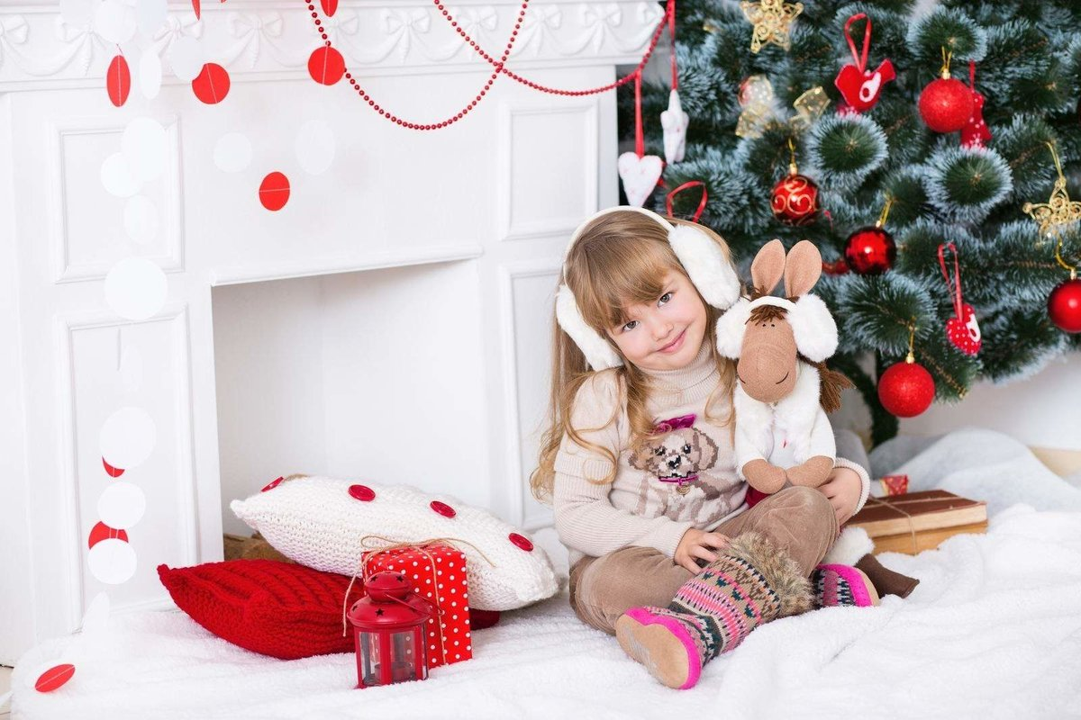 идеи новогодних фотосессий дома с детьми комплект входит плечевой