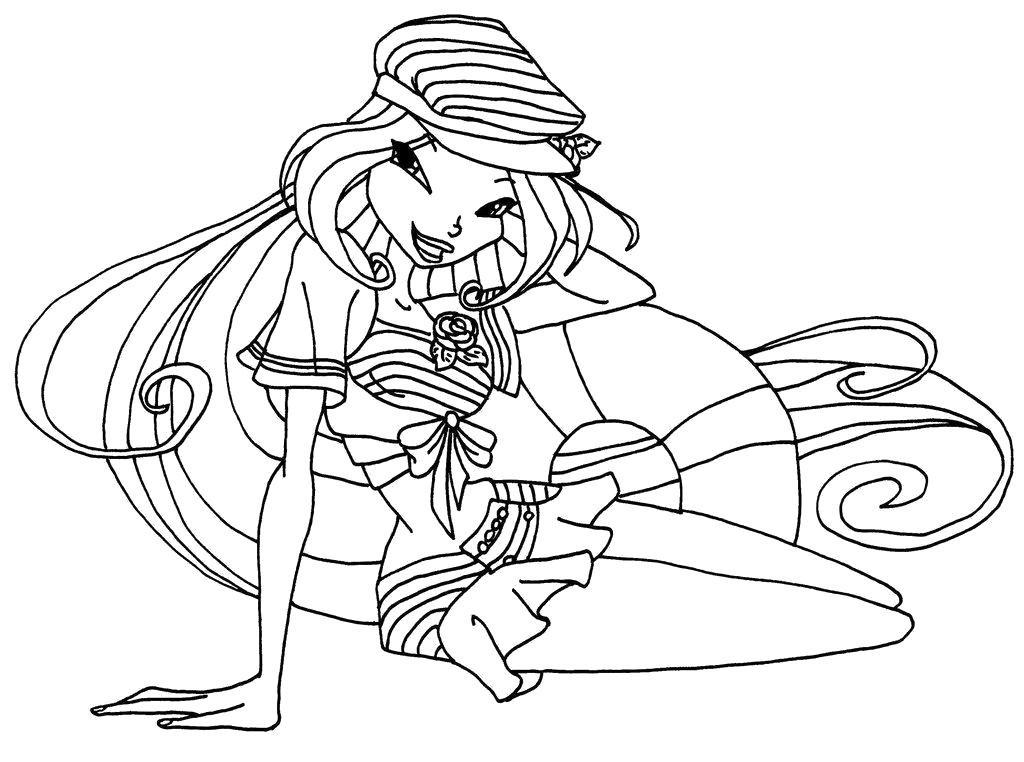 картинка для раскрашивания фея винкс это прочная