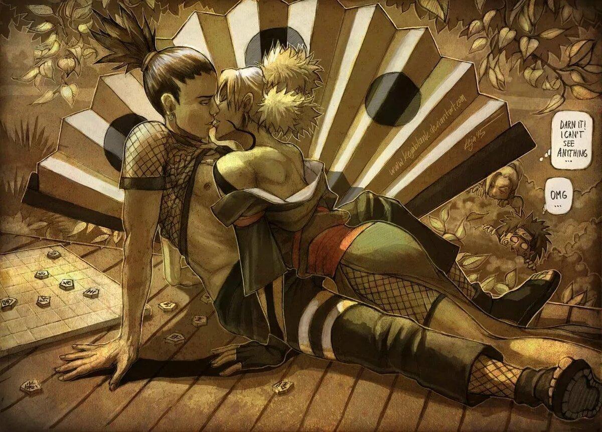 Картинки наруто про темари и шикамару