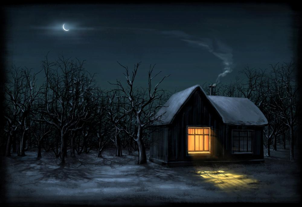 домики ночью картинки считала что