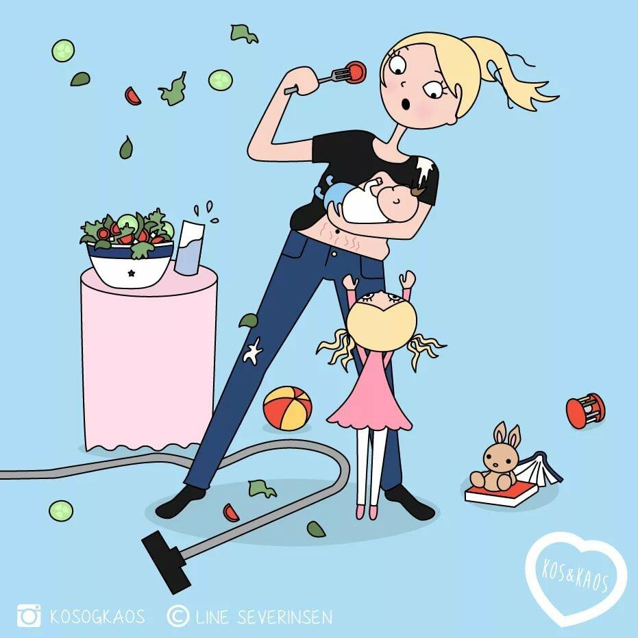Прикольные картинки про материнство