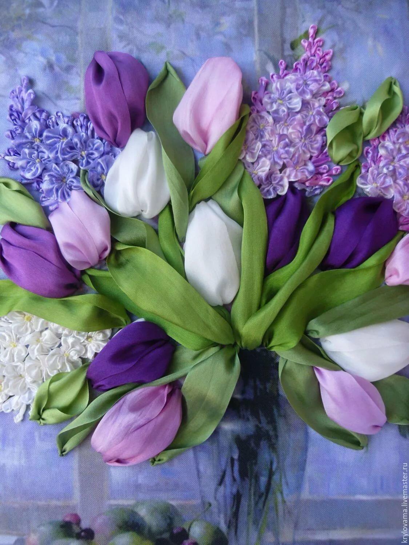 покрытие картинки сирени с тюльпанами собой несколько