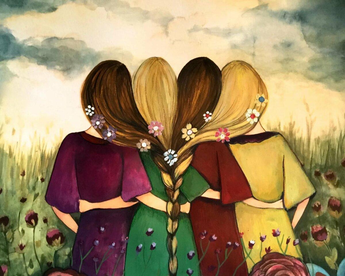 Картинки про дружбу подруг прикольные