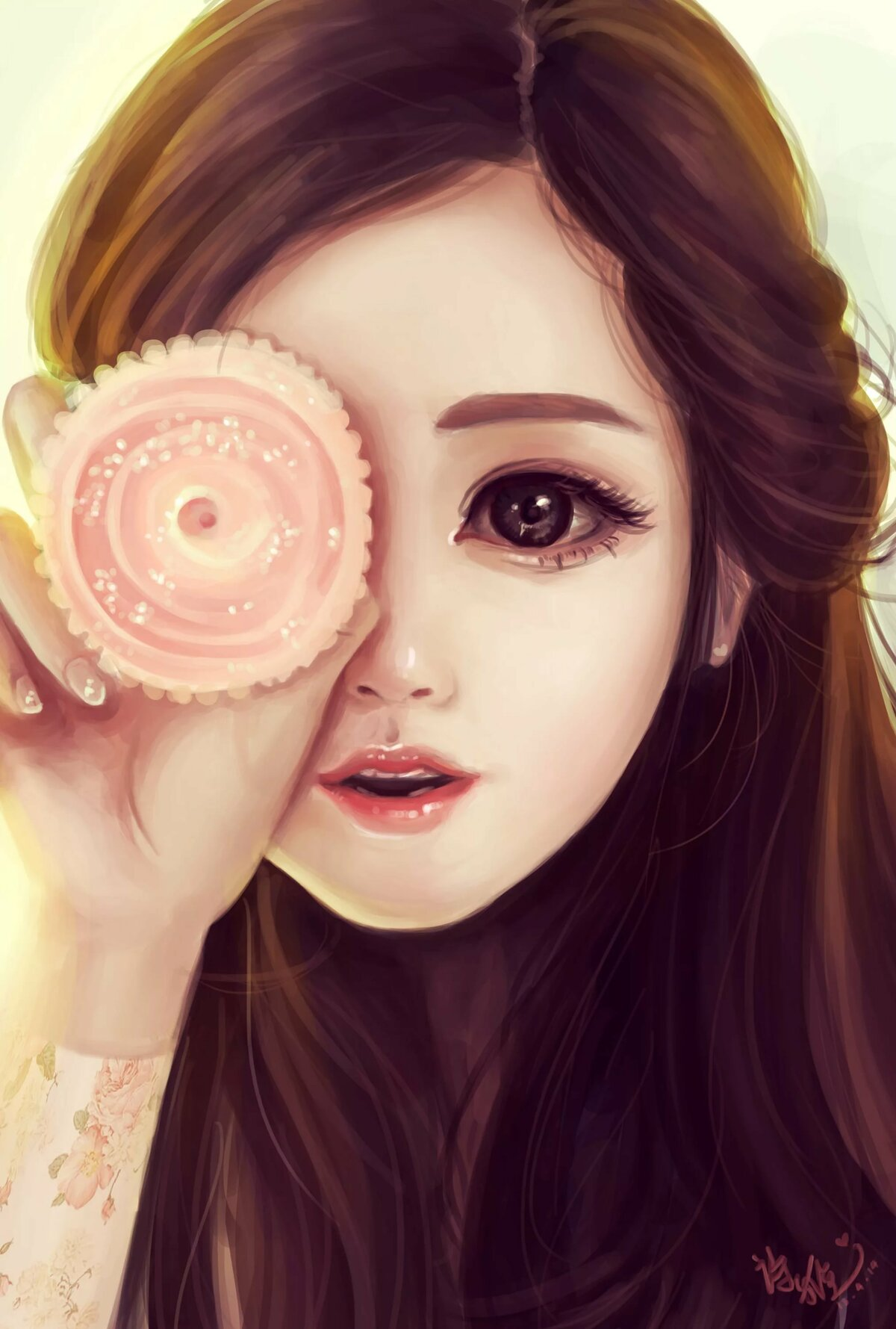Картинки арт девочка