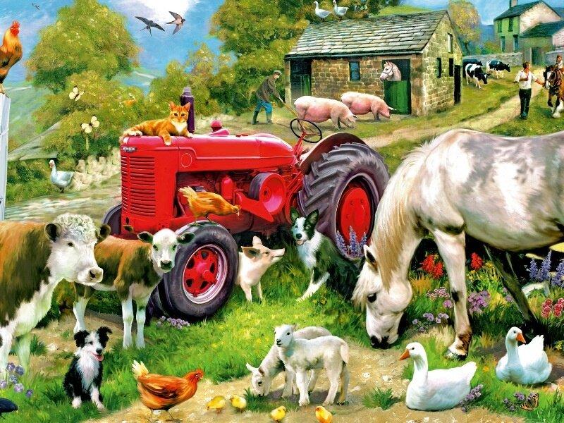 Сельскохозяйственные животные картинка