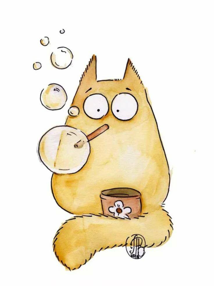 свежем виде рисунки смешные коты рисуем этой странице