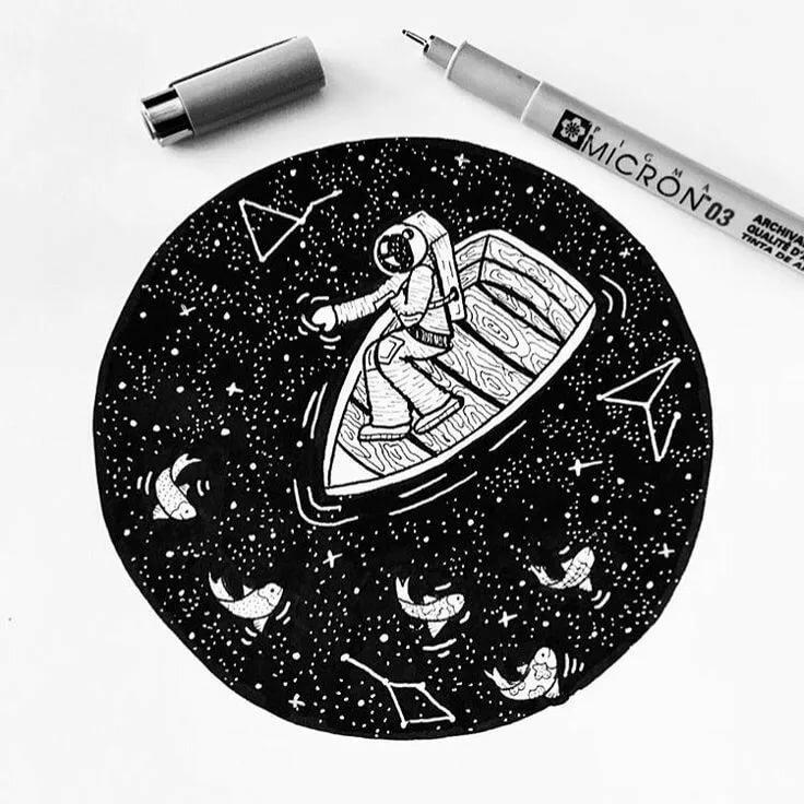 Прикольные рисунки гелевой ручкой алмаз