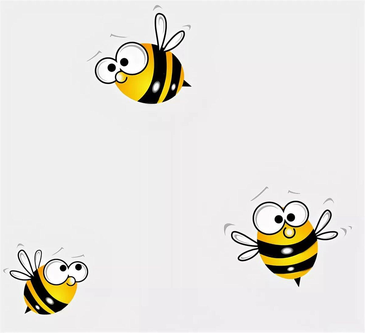 Открытки, смешные рисунки пчелы