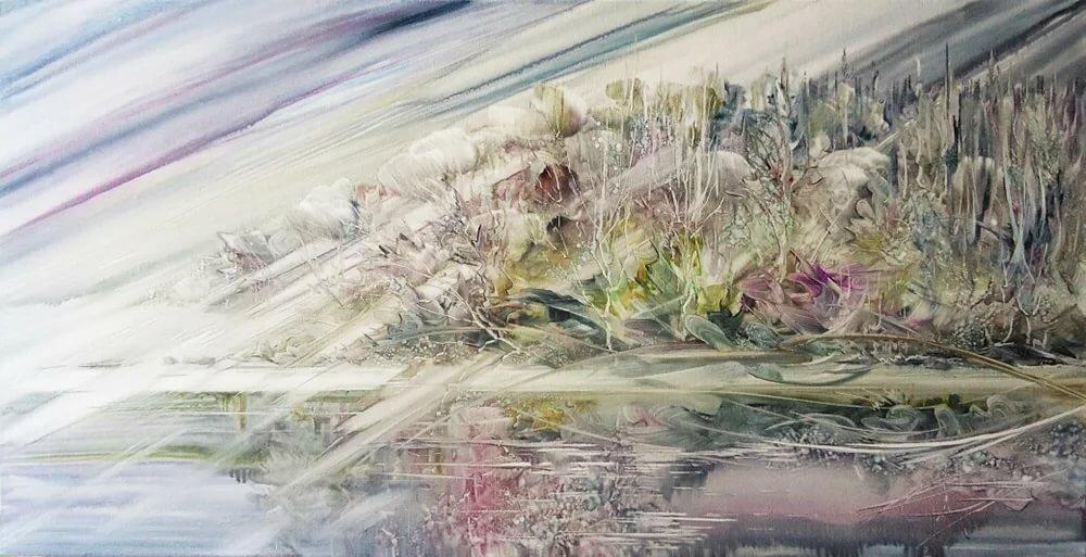 малый картина ветер на равнине работать над