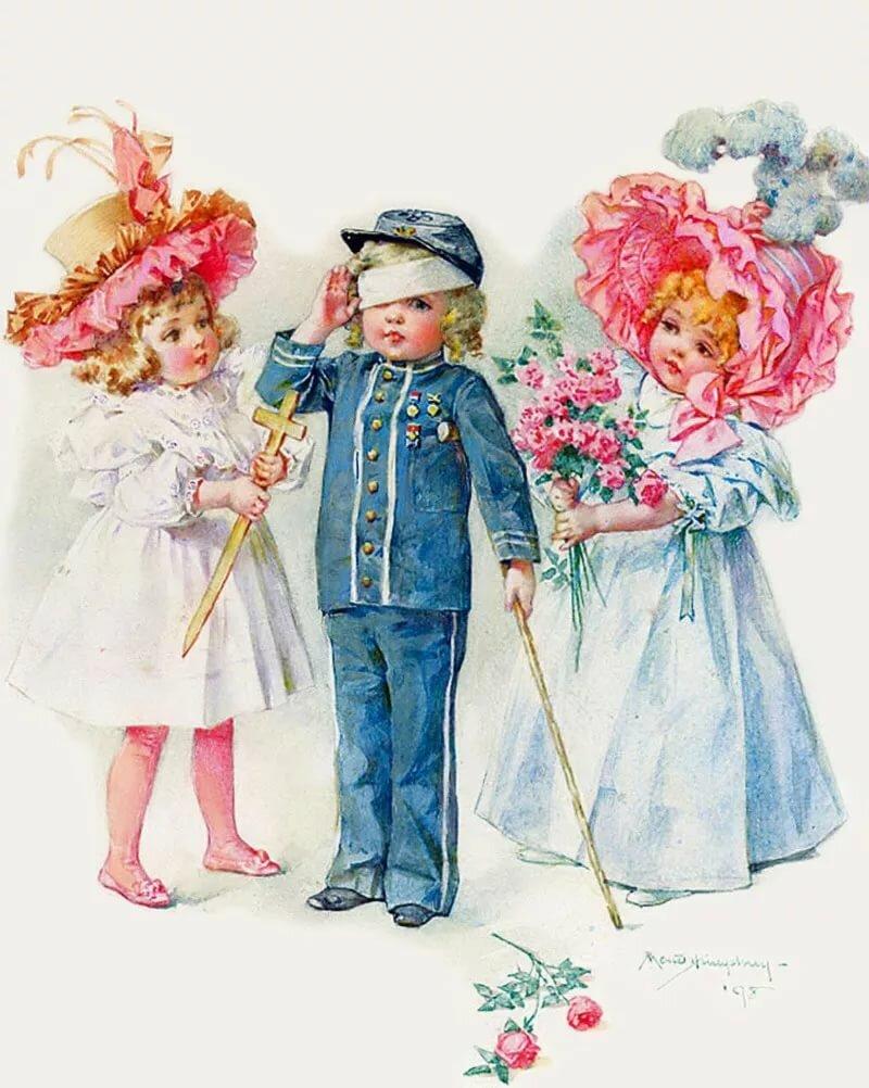 Детки на открытках