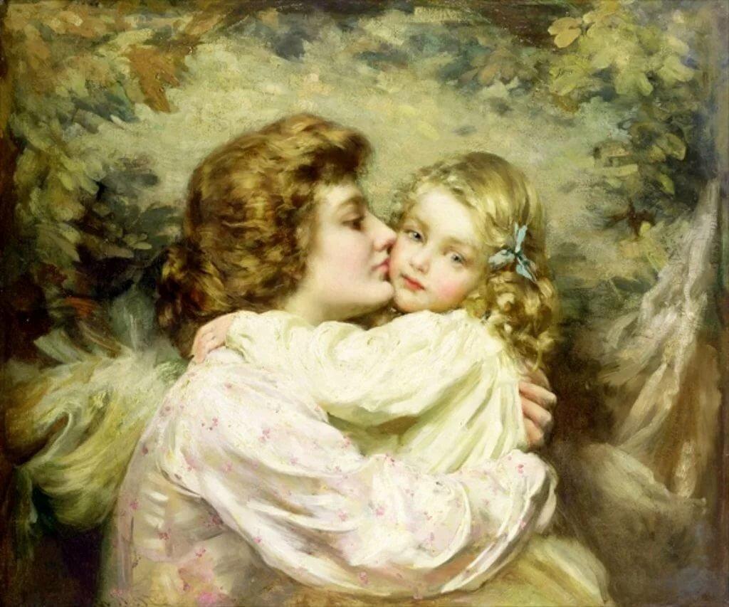 Открытки мать с дочкой