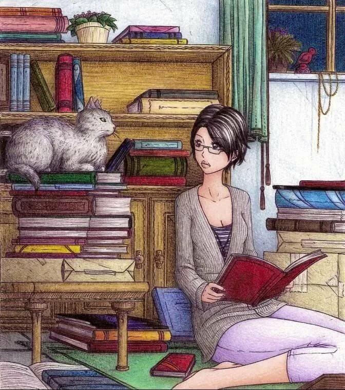 картинки с рисованием и чтением