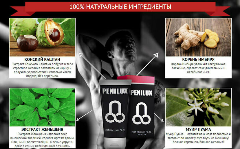 Penilux Gel мужской крем в Мурманске