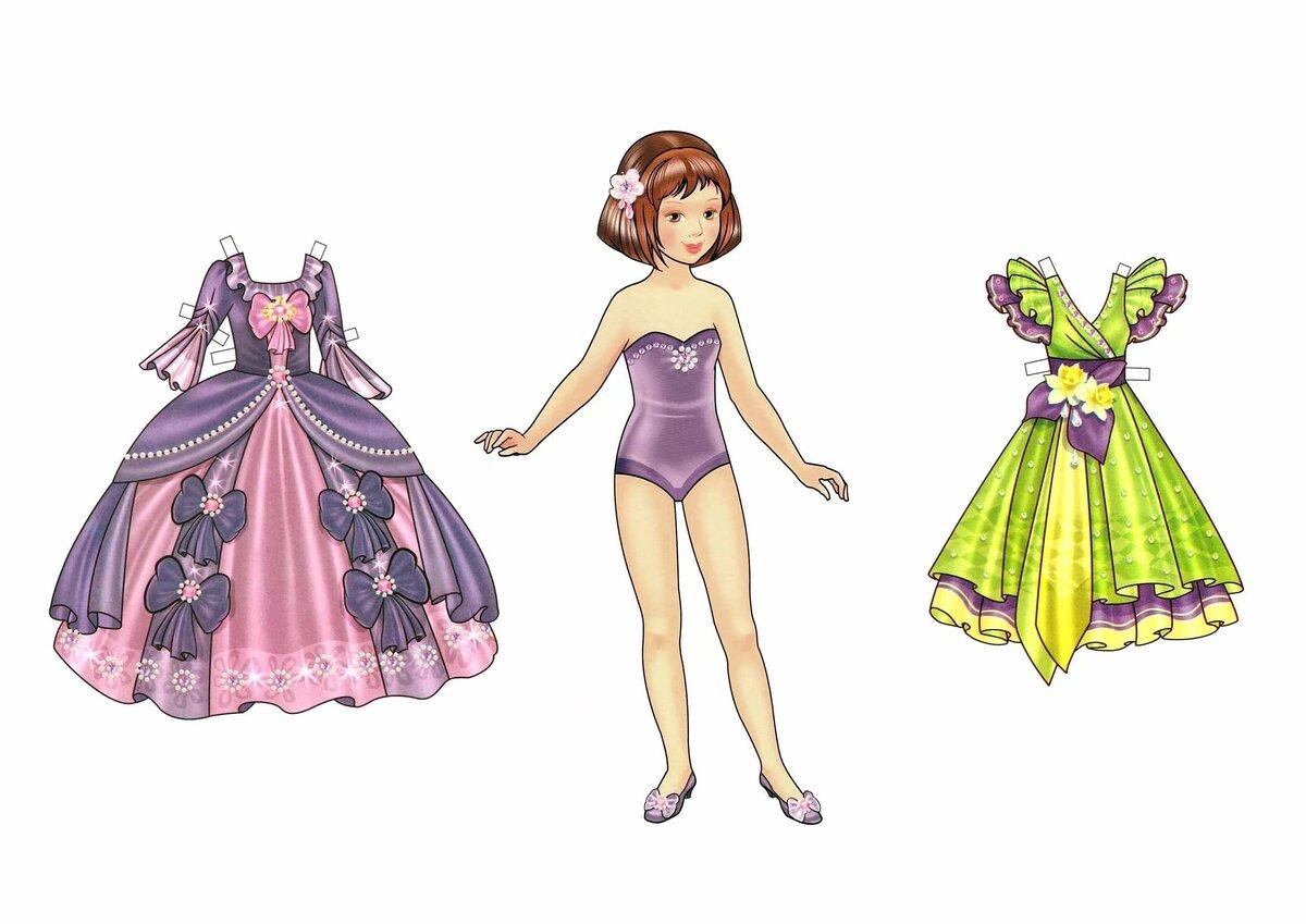Картинки бумажные куклы и одежда