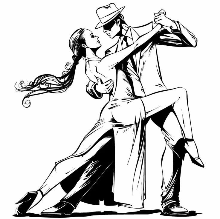 рисунок бальные танцы карандашом сумеешь знаю