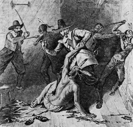 Расправа колонистов с индейцами